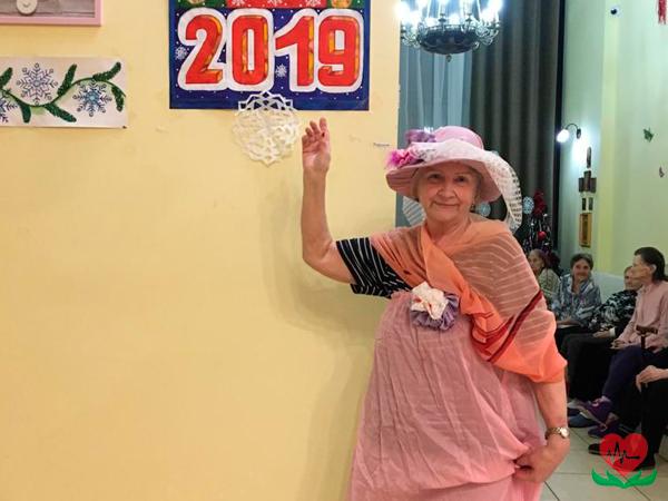 Новый год в пансионате для пожилых людей